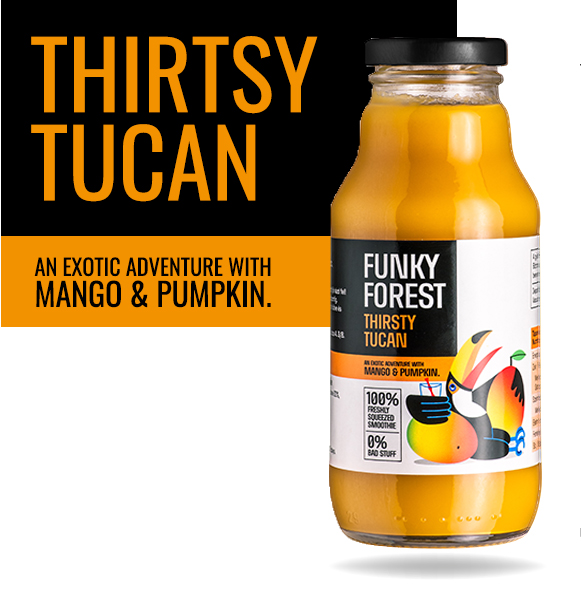 Funky Forest Thirsty Tucan
